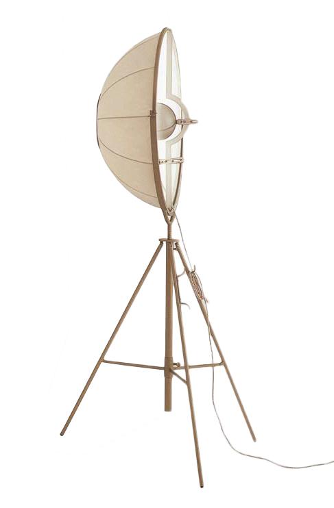 PALLUCCO FORTUNY lampadaire (Moda - Coton et acier verni)