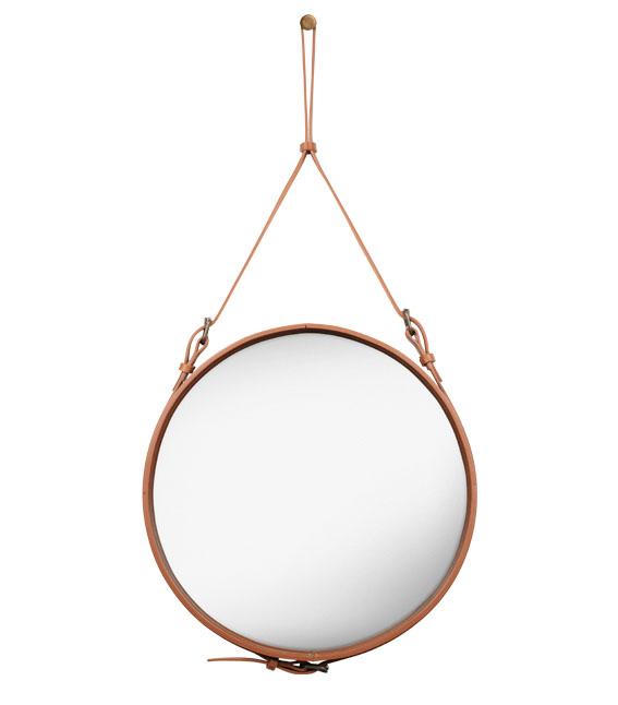 Gubi miroir mural adnet circulaire m tan verre for Miroir circulaire