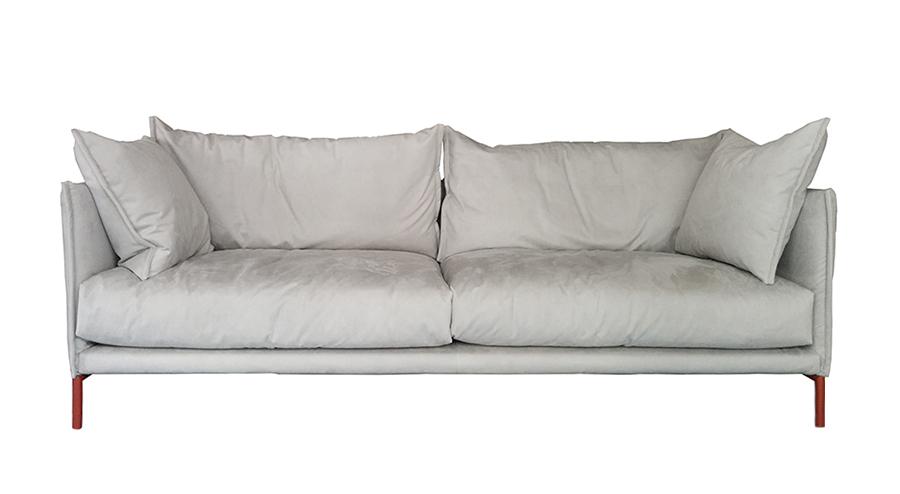 Moroso 2 seater sofa gentry major 240x90 cm pearl grey for Sofa 500 euro