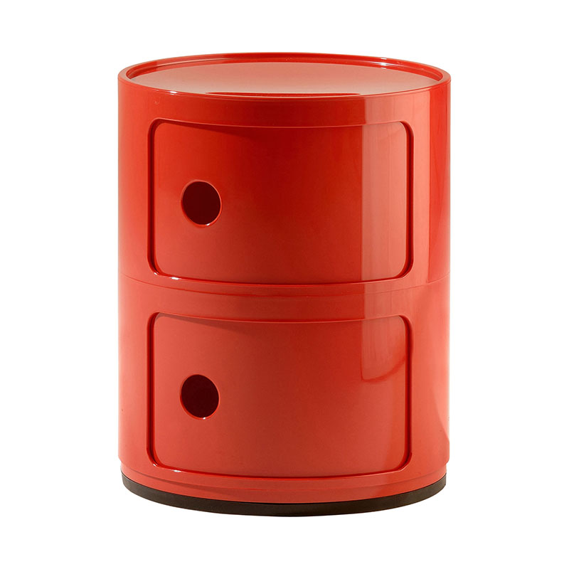 Kartell componibili deux l ments rouge abs - Chevet kartell componibili ...
