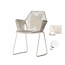 MOROSO TROPICALIA chair stainless with arms