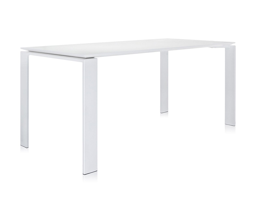Kartell table d 39 exterieur four outdoor l 158 cm acier for Table exterieur acier
