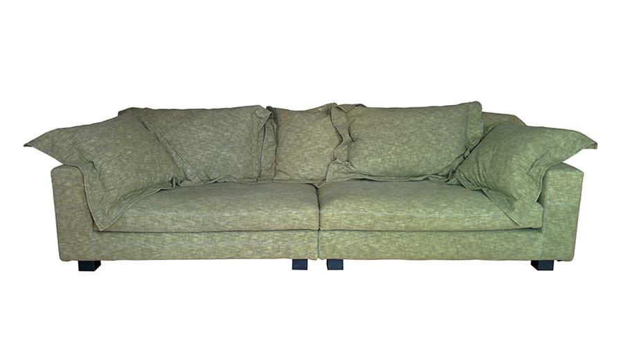 Diesel with moroso sofa nebula nine sofa 280x110 cm green for Sofa 500 euro
