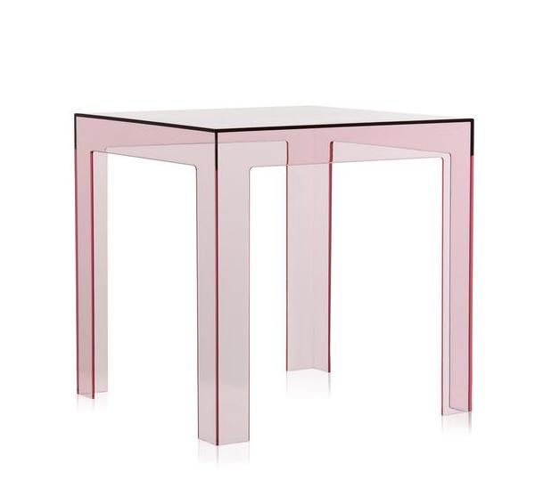 kartell table basse jolly rose polycarbonate transparent. Black Bedroom Furniture Sets. Home Design Ideas