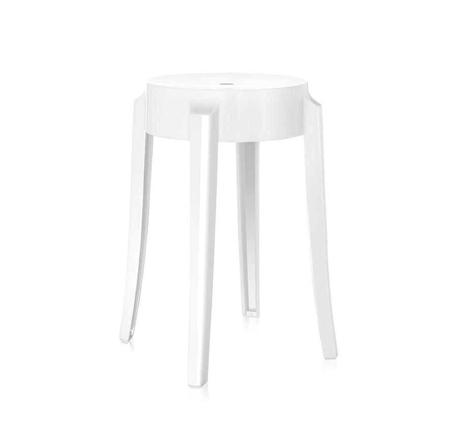 kartell tabouret charles ghost hauteur 46 cm blanc. Black Bedroom Furniture Sets. Home Design Ideas