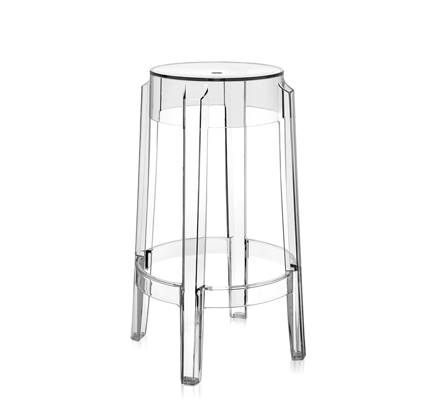 kartell tabouret charles ghost hauteur 65 cm cristal. Black Bedroom Furniture Sets. Home Design Ideas