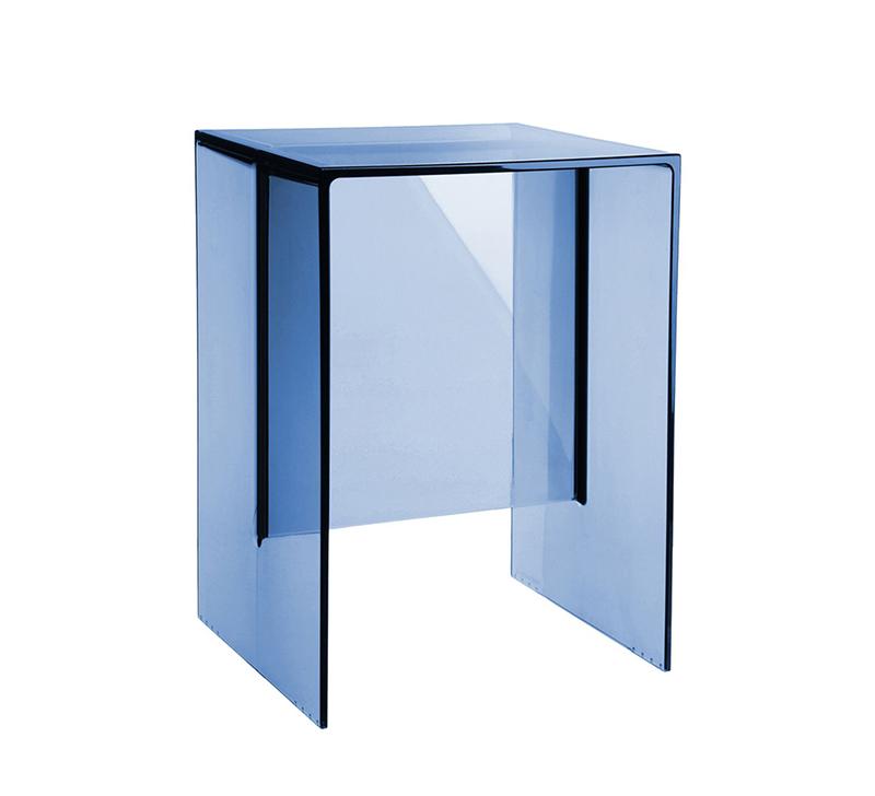 Kartell by laufen table tabouret max beam bleu coucher de - Tabouret plastique transparent ...