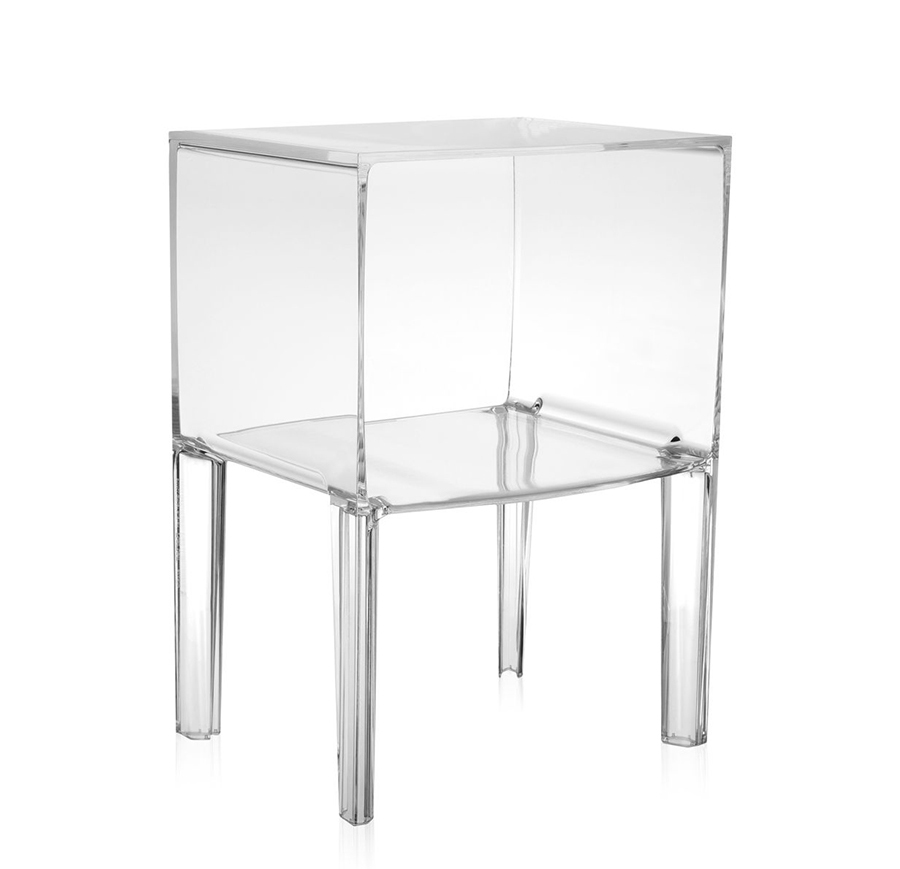 Kartell table de chevet small ghost buster cristal pmma for Table exterieur kartell