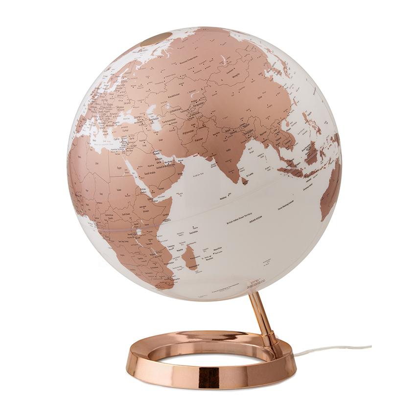 ATMOSPHERE lampe de bureau mappemonde LIGHT & COLOUR BRIGHT (Copper - PMMA)
