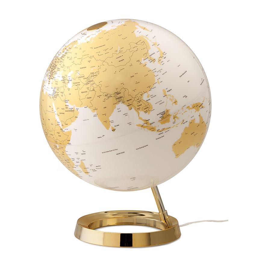 ATMOSPHERE lampe de bureau mappemonde LIGHT & COLOUR BRIGHT (Gold - PMMA)