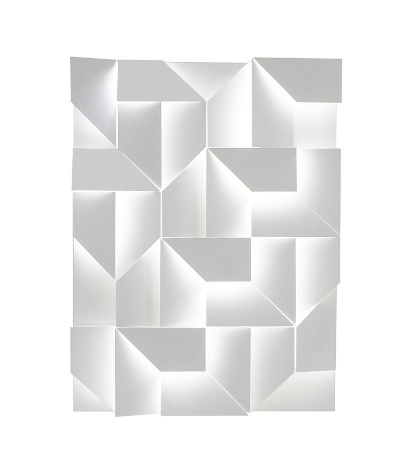 NEMO lampe de mur WALL SHADOWS GRAND (Blanc - Aluminium)