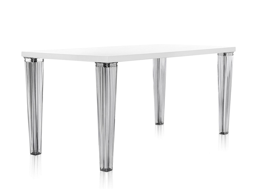 Kartell table top top plateau en verre dim 160x72x80 for Table exterieur kartell
