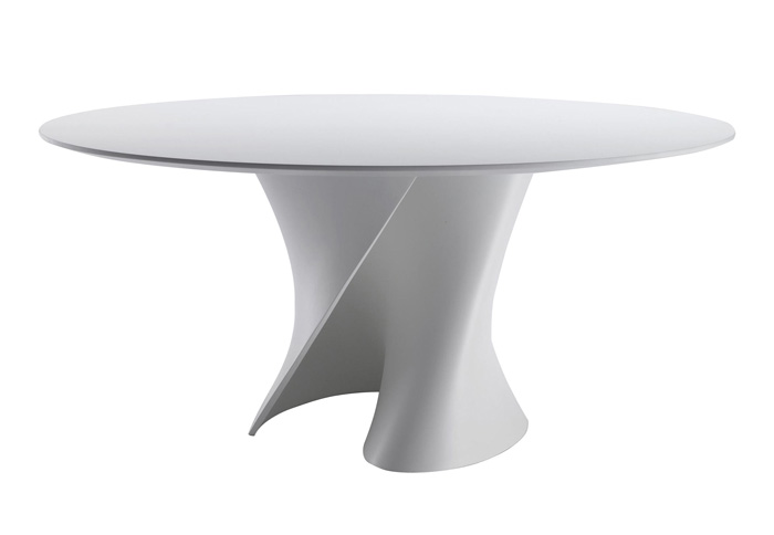 Mdf italia table ronde s table 140 cm blanc opaque for Table ronde 140 cm