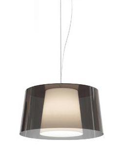 PEDRALI Lampe à suspension L001S/BA (Fumé \ blanc - Méthacrylate)