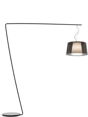 PEDRALI Lampe à terre L001T/BA (Fumé \ blanc - acier noir/Méthacrylate)