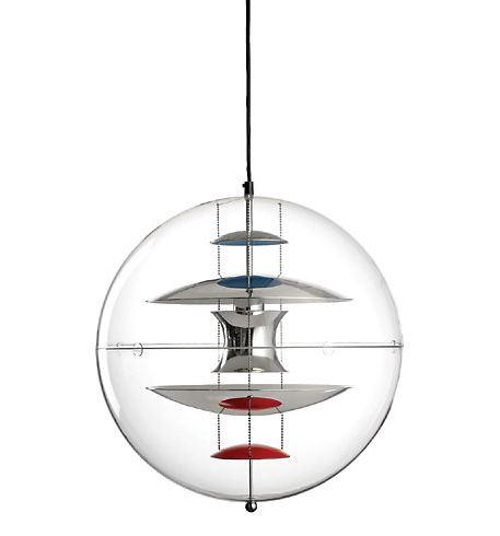 VERPAN lampe à suspension VP GLOBE (Aluminium couleur 40 - Acrylique)