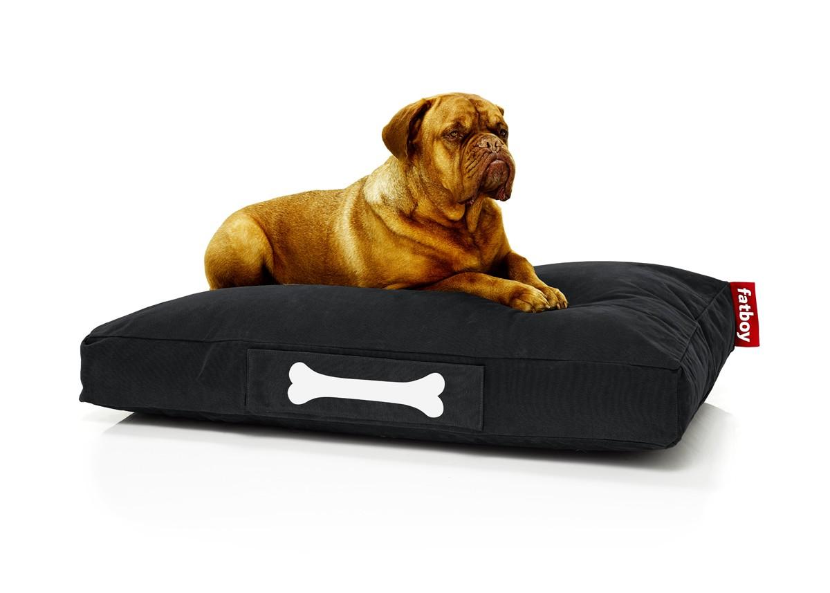fatboy pouf pour chiens et chats doggielounge stonewashed large noir 100 coton. Black Bedroom Furniture Sets. Home Design Ideas