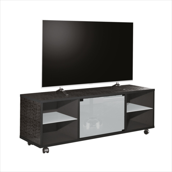 MUNARI meuble TV MATERA MT150NE (Blanc  Laminé et verre)  MyAreaDesigncom -> Munari Meuble
