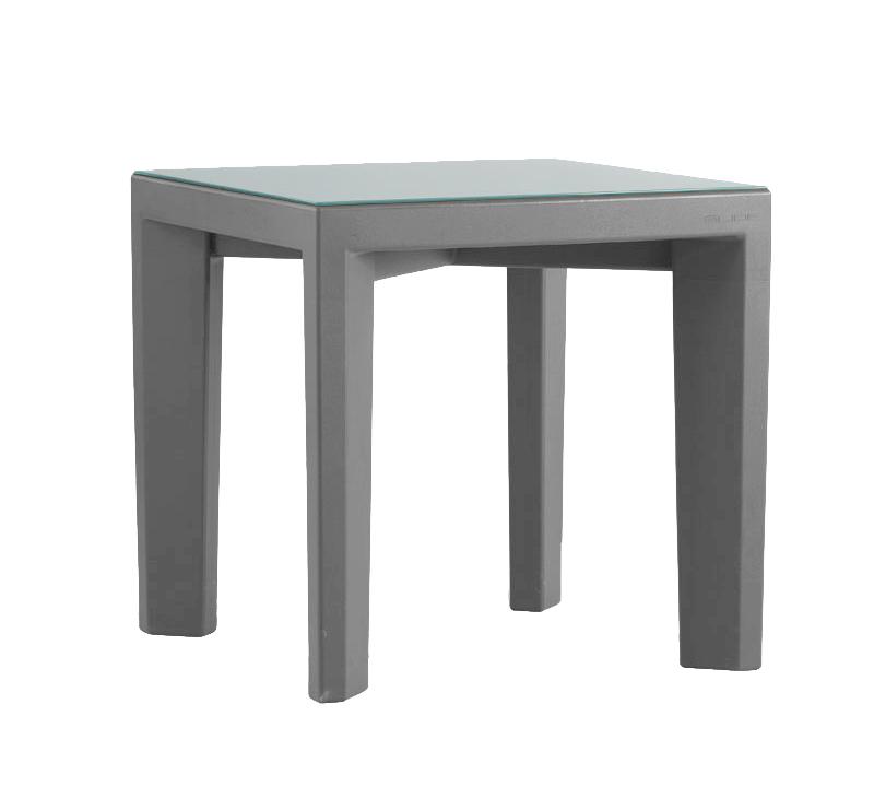 Slide table basse pour ext rieur gino gris poly thyl ne - Table basse exterieur ...