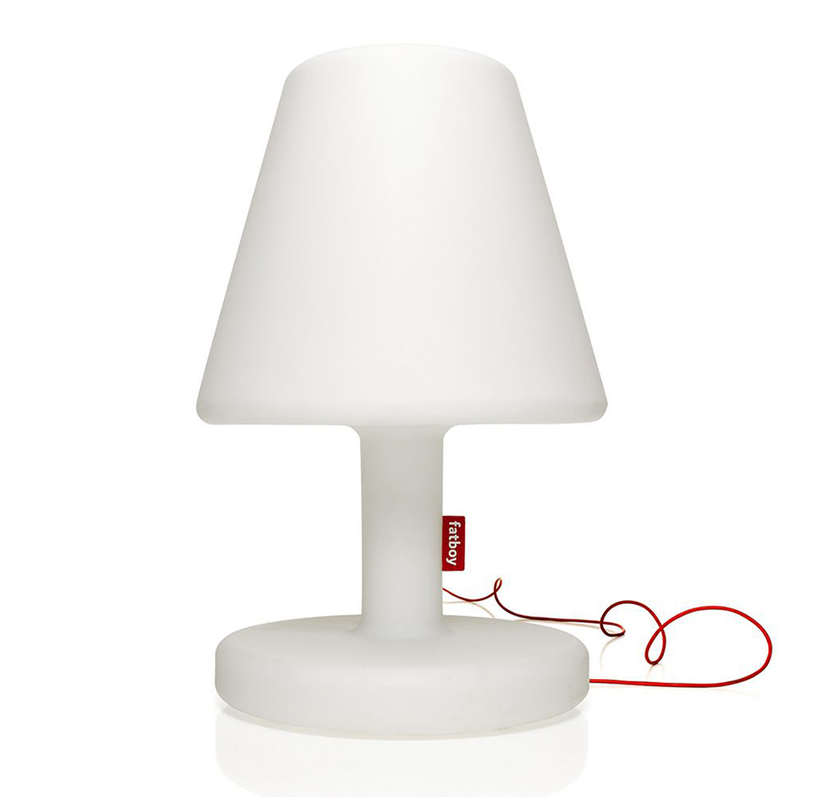 fatboy lampe led edison the medium pour int rieur et ext rieur blanc poly thyl ne