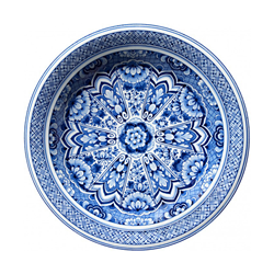 MOOOI CARPETS tapis DELFT BLUE PLATE Signature collection