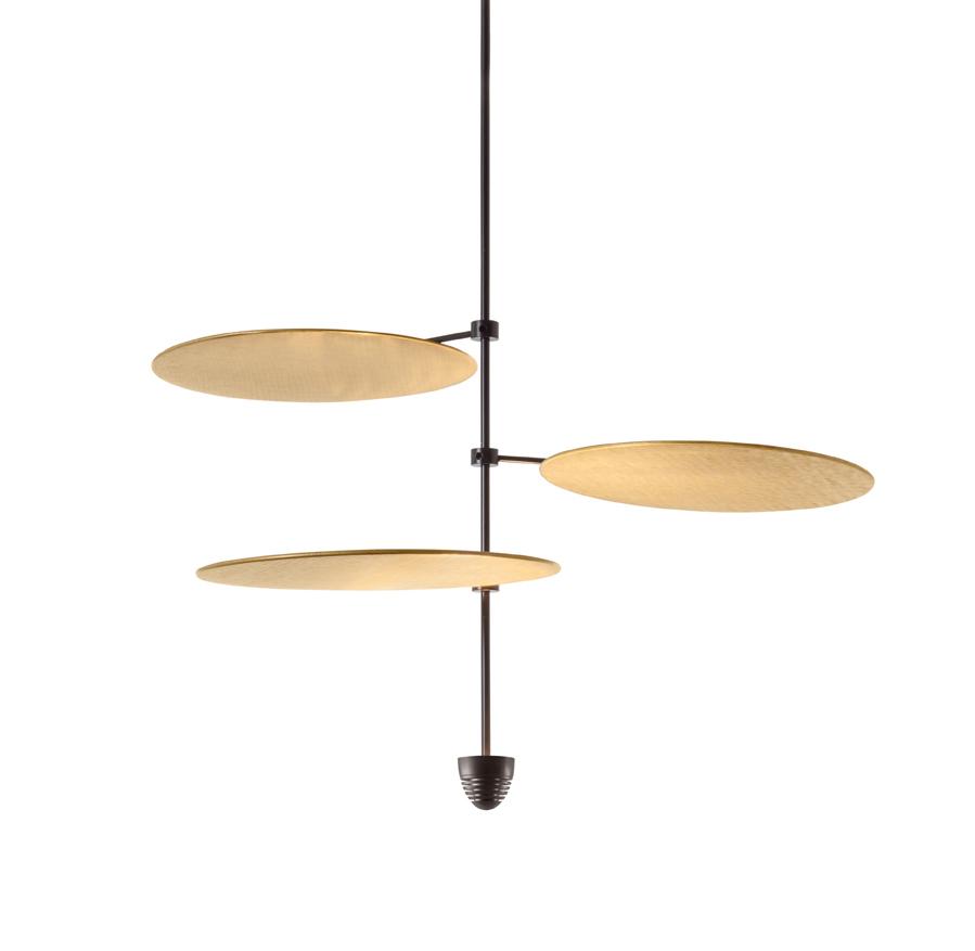 ANTONANGELI lampe à suspension SKYFALL C3 (Noir - Métal verni et laiton)