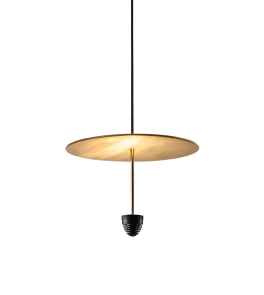 ANTONANGELI lampe à suspension SKYFALL C1 (Noir - Métal verni et laiton)