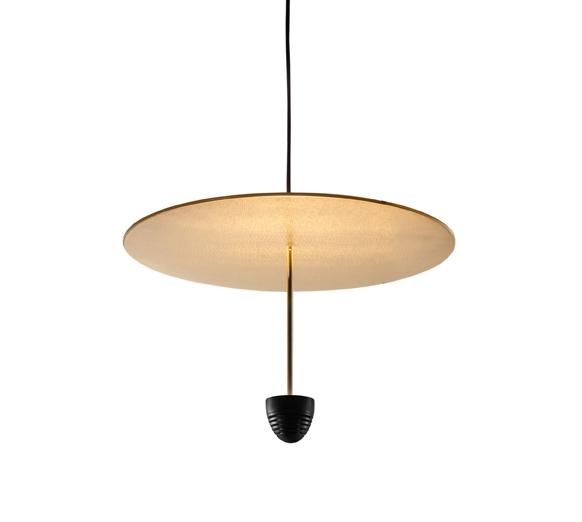 ANTONANGELI lampe à suspension SKYFALL C2 (Noir - Métal verni et laiton)
