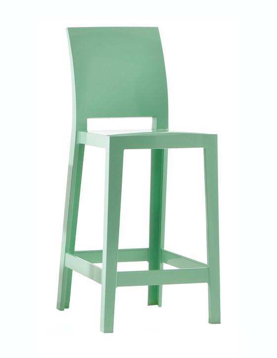 KARTELL set de 2 tabourets ONE MORE PLEASE H 65 cm (Vert Polycarbonate coloré dans la masse)
