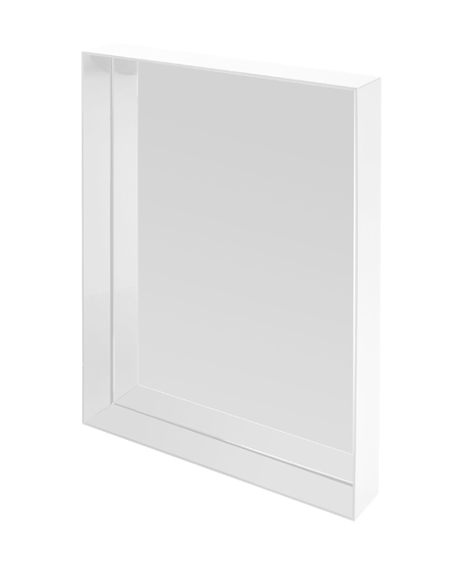 Kartell miroir mural only me blanc brillant teint dans la masse pmma for Miroir teinte design