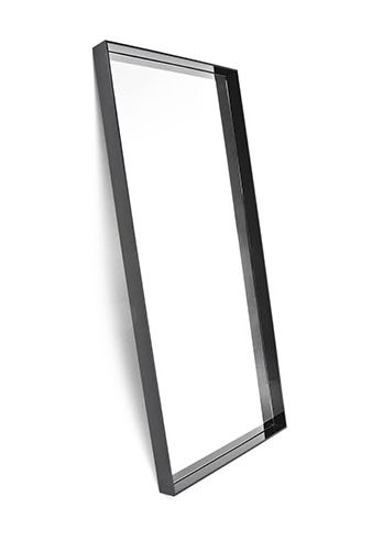 Kartell miroir sur pied et mural only me noir brillant teint dans la masse pmma for Miroir teinte design