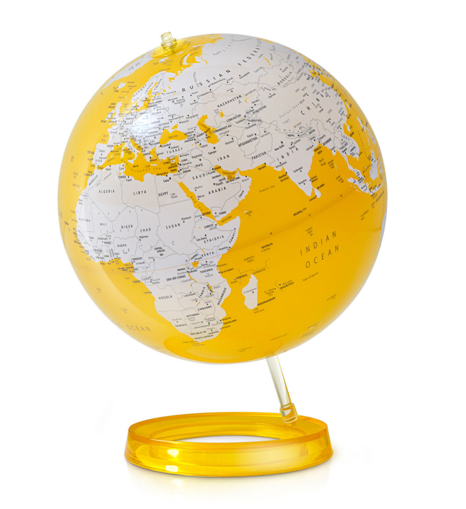 Atmosphere lampe de bureau mappemonde light colour - Lampe de bureau jaune ...