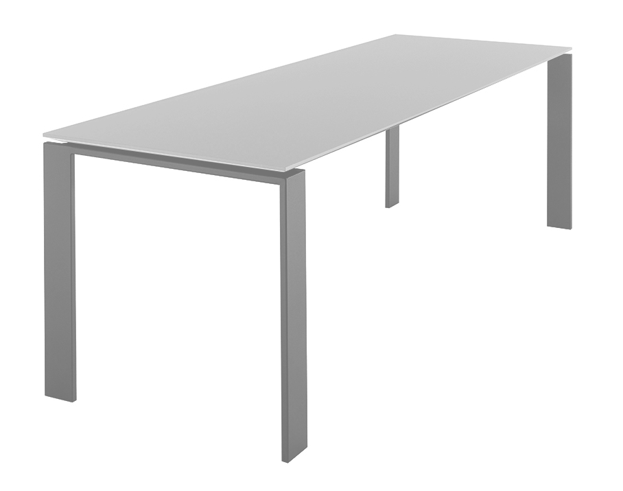 Kartell table four dim 223x72x79 plateau blanc pieds for Table exterieur kartell