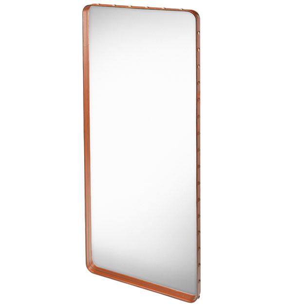 Gubi floor mirror adnet rectangulaire l tan glass for Glass floor mirror
