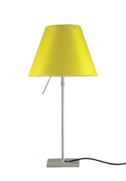 luceplan lampe de table costanzina radieuse jaune vif d13 pi 1 2. Black Bedroom Furniture Sets. Home Design Ideas