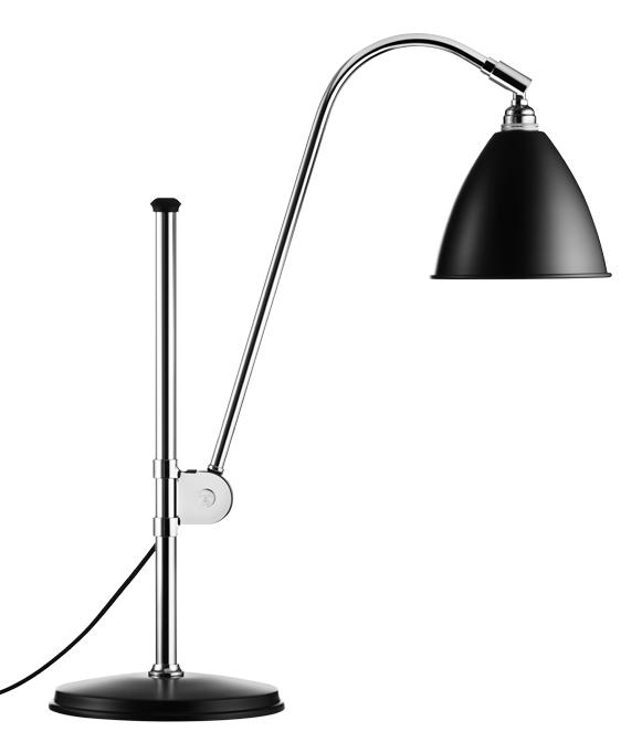 gubi lampe de table bestlite bl1 noir chrom m tal. Black Bedroom Furniture Sets. Home Design Ideas