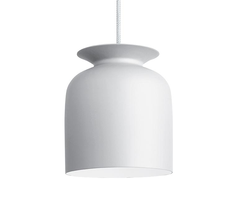 gubi lampe suspension ronde 20 cm blanc aluminium. Black Bedroom Furniture Sets. Home Design Ideas