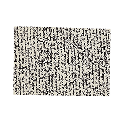 NANIMARQUINA tapis Black on White MANUSCRIT