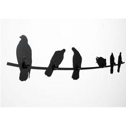 COVO coat rack BIRDS ON WIRE