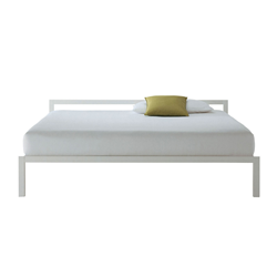 MDF ITALIA lit deux places ALUMINIUM BED