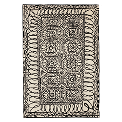 NANIMARQUINA tapis Black on White ESTAMBUL