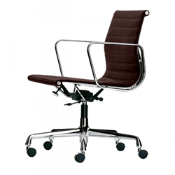 VITRA office chair with medium-high backrests ALUMINIUM CHAIR EA 117