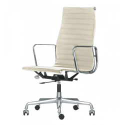VITRA office chair with high backrests ALUMINIUM CHAIR EA 119
