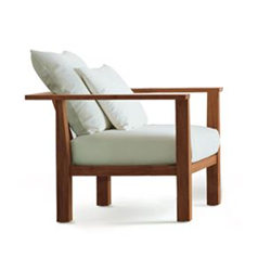 GERVASONI outdoor armchair with cushions INOUT 01