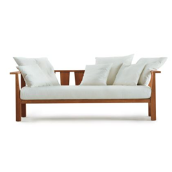 GERVASONI outdoor sofa with cushions INOUT 03