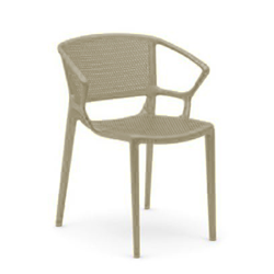 INFINITI set of 4 perforated armchairs FIORELLA