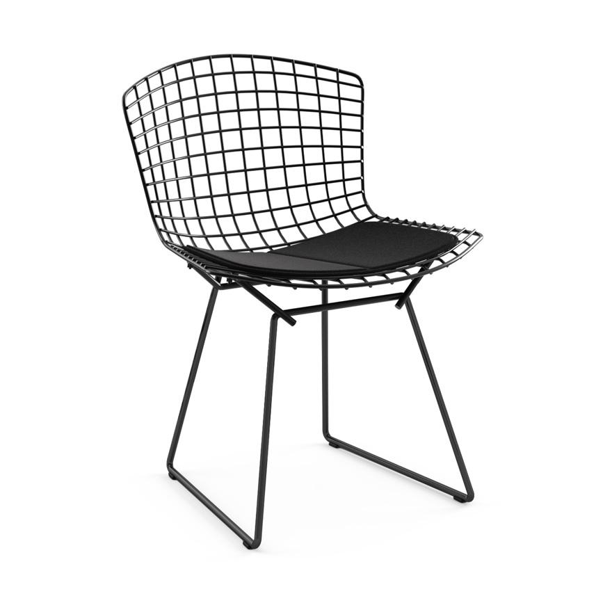 Knoll chaise avec coussin bertoia structure noire for Bertoia chaise prix