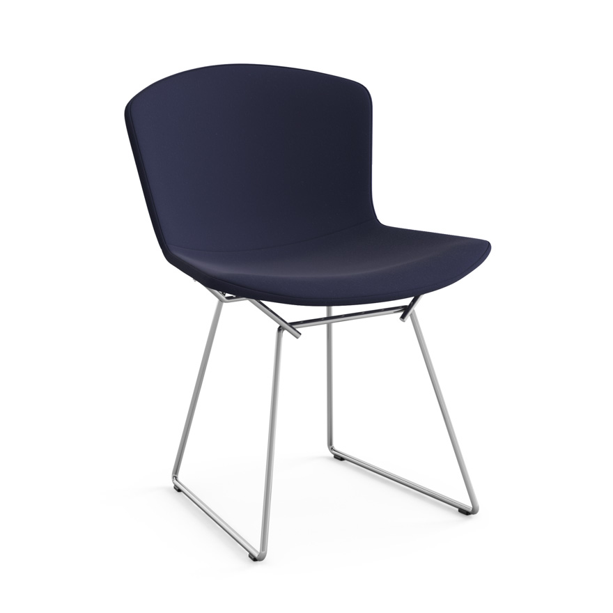 Knoll chaise enti rement tapiss e bertoia structure for Chaise knoll bertoia