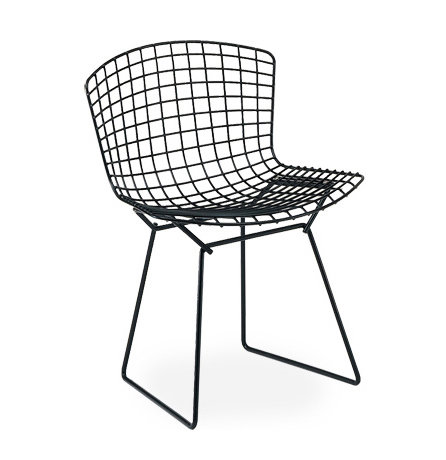 knoll chaise bertoia noir acier. Black Bedroom Furniture Sets. Home Design Ideas