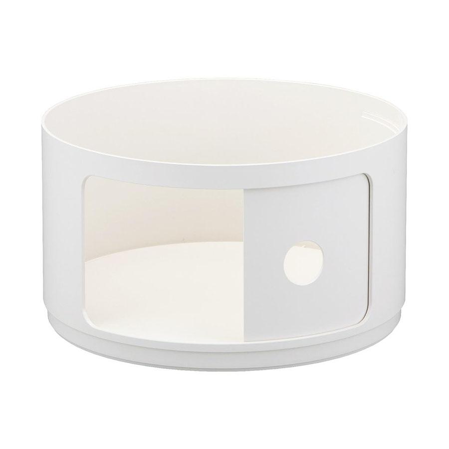 Table De Chevet Componibili kartell table de chevet componibili à un élément (pas de couverture) (blanc  4953 - abs)